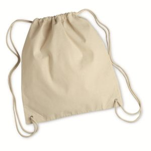 10 Ounce Cotton Canvas Drawstring Backpack Thumbnail